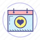calendar, date, event, heart, love, schedule, valentine