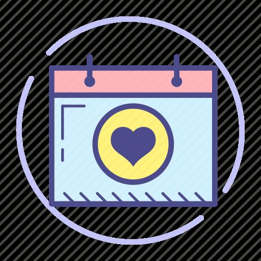Calendar, date, event, heart, love, schedule, valentine icon - Download on Iconfinder