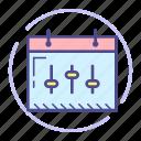 calendar, event, preferences, schedule, settings