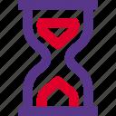 hourglass, half