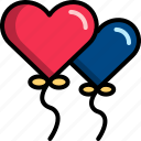 balloon, dating, gift, heart, romantic, valentine icon