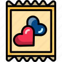 condom, dating, heart, night, sex, valentine icon