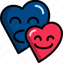 couple, date, dating, heart, love, romantic, valentine icon