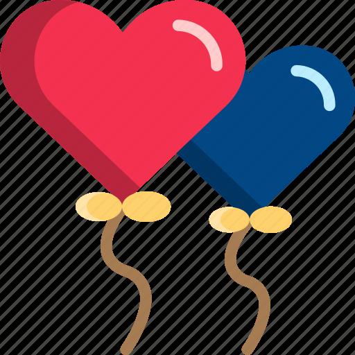 balloon, dating, gift, heart, romantic, valentine icon
