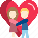couple, heart, love, romantic, valentine, wedding icon