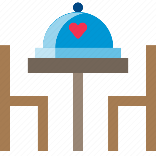 dating, dinner, food, restaurant, table, valentine icon