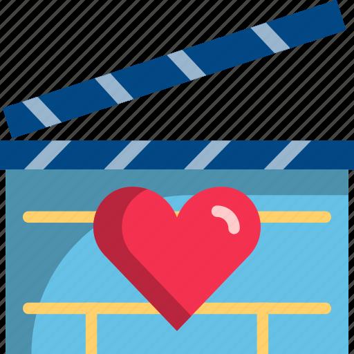 dating, love, movie, night, romantic, theater, valentine icon