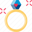 engage, love, married, ring, romantic, valentine, wedding icon