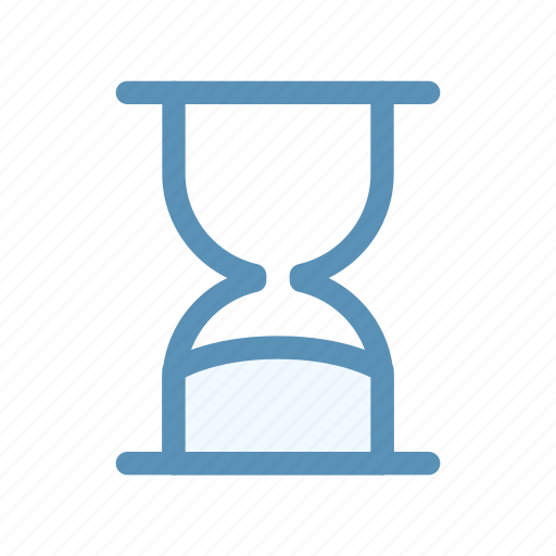 clock, hourglass, interface, time, user icon