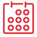 appointment, calendar, date, days, month, schedule, timetable icon