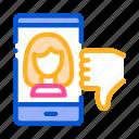 app, avatar, dating, dislike, female