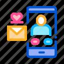 app, dating, message, romantic