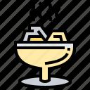food, beverage, copal, incense icon