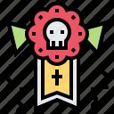 calaca, dead, party, skeleton, skull icon