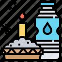 beverage, food, salt, water, worship