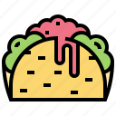 food, lunch, mexican, restaurant, taco icon