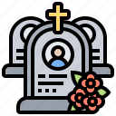 cemetery, death, funeral, graveyard, tombstone icon