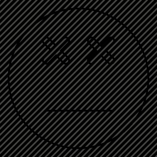 dead, emoji, emoticon, face, smiley icon