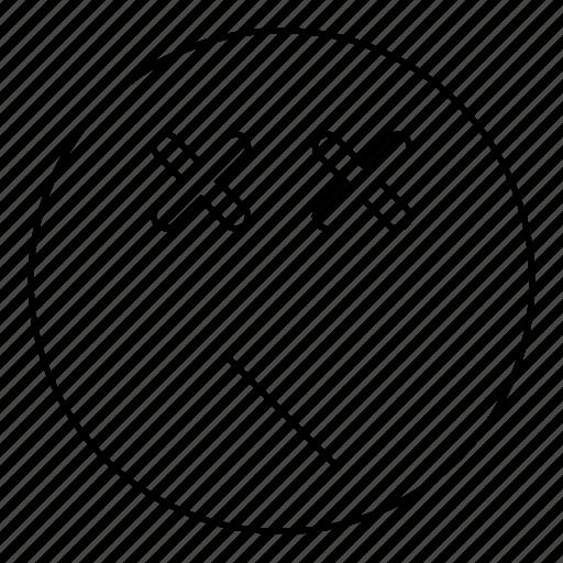 Dead, emoji, emoticon, face, smiley icon - Download on Iconfinder