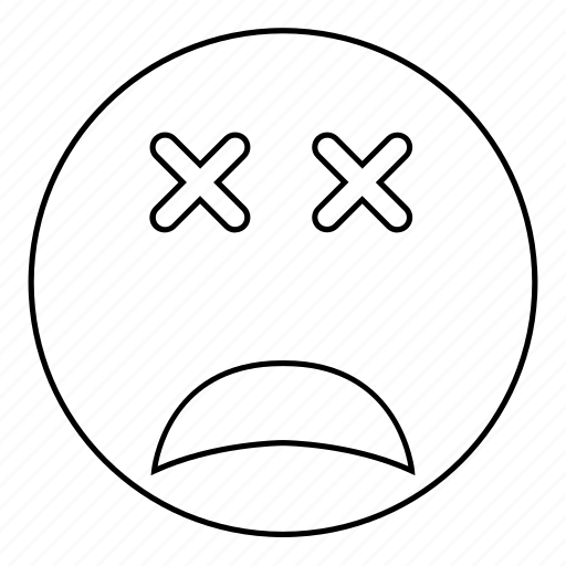 dead, smiley icon