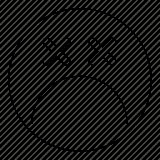 Dead, emoji, emoticon, face, feeling, sad, smiley icon - Download on Iconfinder