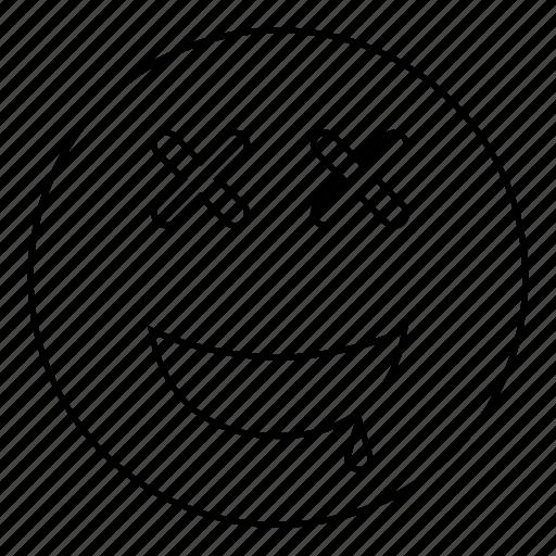 Dead, emoji, emoticon, face, happy, smile, smiley icon - Download on Iconfinder
