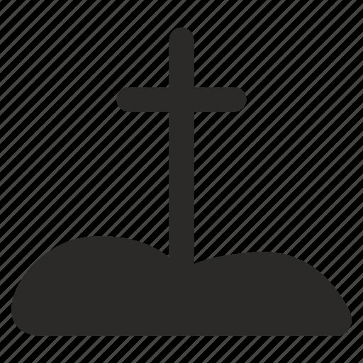cross, dead, death, grave, tomb icon