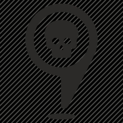 dead, death, point, pointer icon