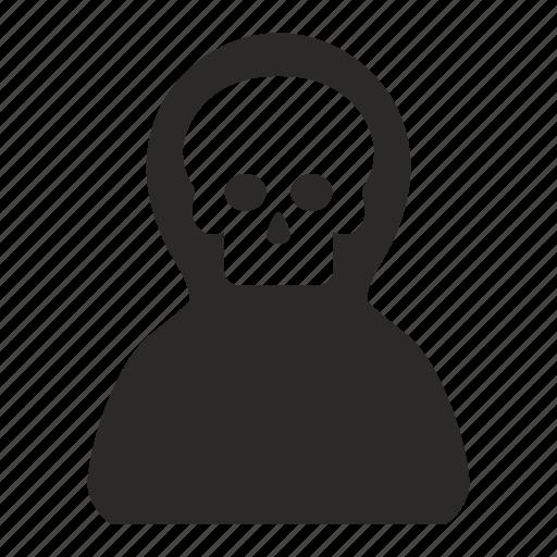 dead, death, head, person, skull icon