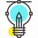 art, bulb, draw, idea, imagination, light, pencil icon