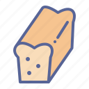bake, bread, loaf, wheat icon