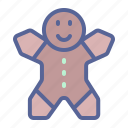 christmas, cookie, dessert, gingerbread icon