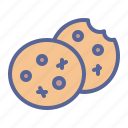 biscuit, chips, chocolate, cookies icon