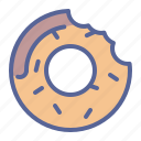 confectionery, donut, sugar, sweet icon
