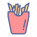 carbs, chips, french fries, potato icon
