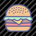 beef, burger, chicken, hamburger icon