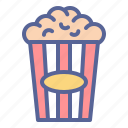 cinema, movie, popcorn, theater icon