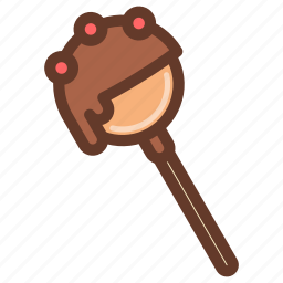 cakepop, chocolate, dessert, fun, party, snack, sprinkles icon