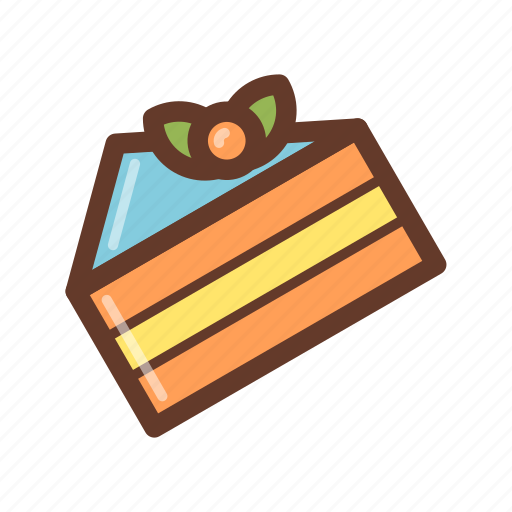 bakery, berry, cake, cream, dessert, jam, party icon