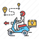 courier, delivery, express, scooter, shipping, transport