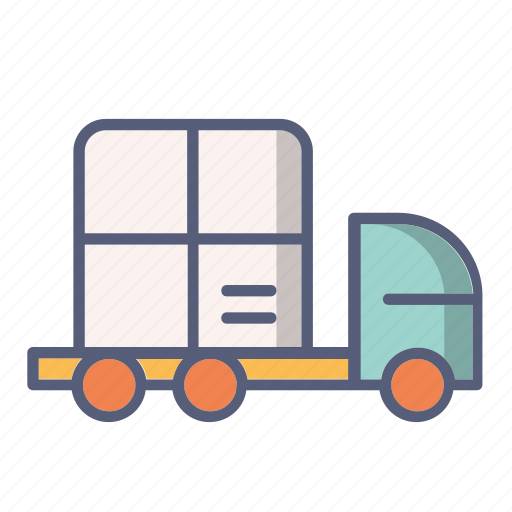 car, delivery, post, tracking, truck icon