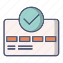 approved, card, credit, money, payment icon