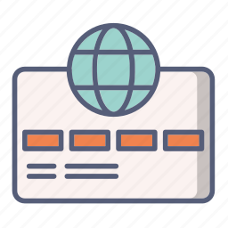 card, credit, international, pay, payment icon