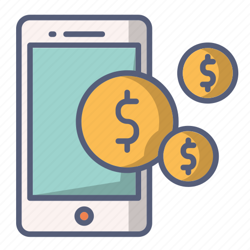 mobile, money, online, paid, payment, phone icon