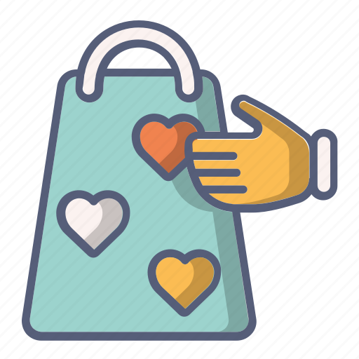 bag, delivery, gift, shop, shopping icon