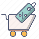 cart, discount, sale, shop, shopping icon