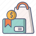 bag, card, credit, sale, shop, shopping icon