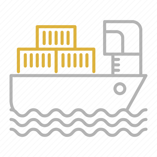 cargo, sea, ship, shipping, transportation icon