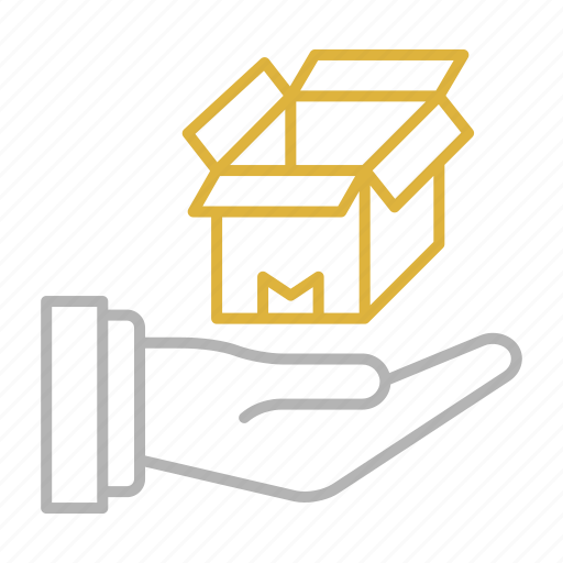 Box, delivery, hand, shipping, transportation icon - Download on Iconfinder