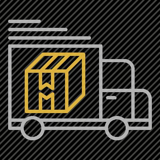 shipping, transportation, truck, van icon